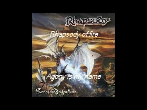 Rhapsody of Fire Agony Is My Name with lyrics - YouTube