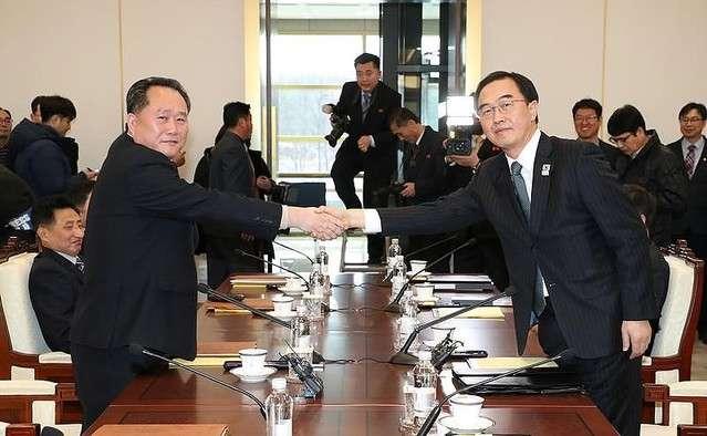 北朝鮮が平昌五輪に選手団・応援団を派遣へ 南北高官級会談で表明