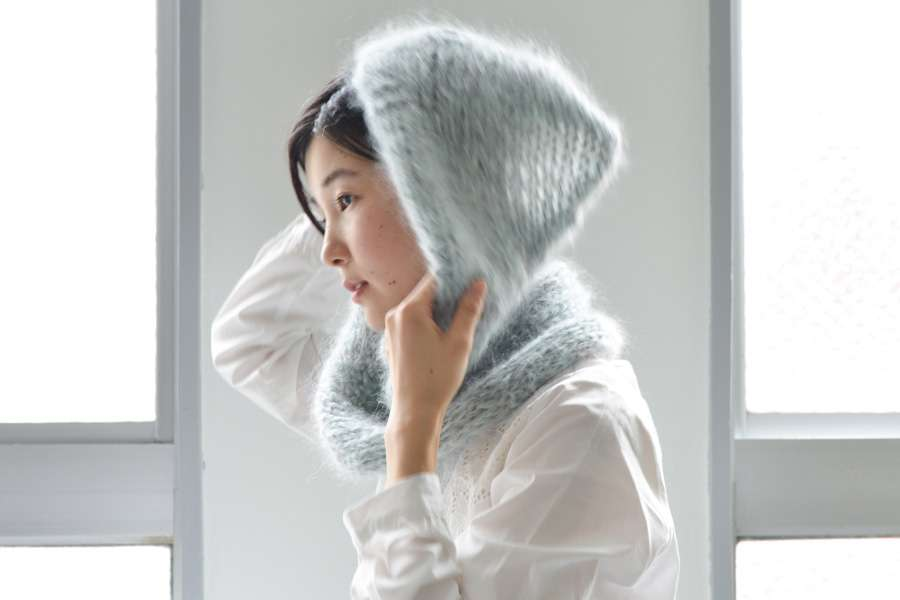 色をまぜて編むモヘヤのスヌード キット - DARUMA STORE -横田株式会社公式通販-