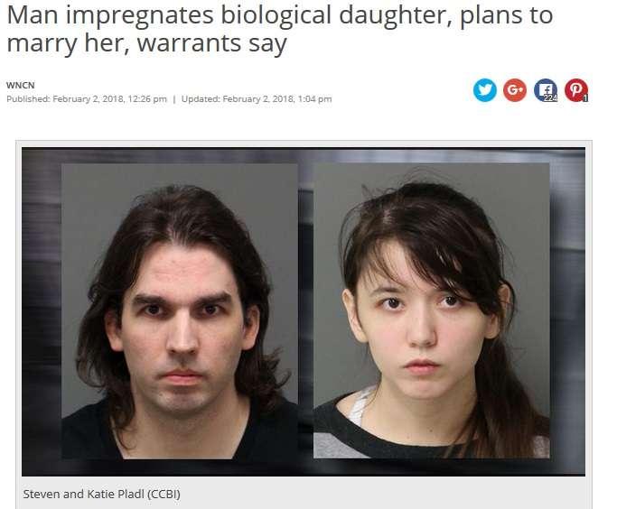 養子に出した娘と実父、再会後に男女の関係へ 子供までもうけた2人を逮捕(米)