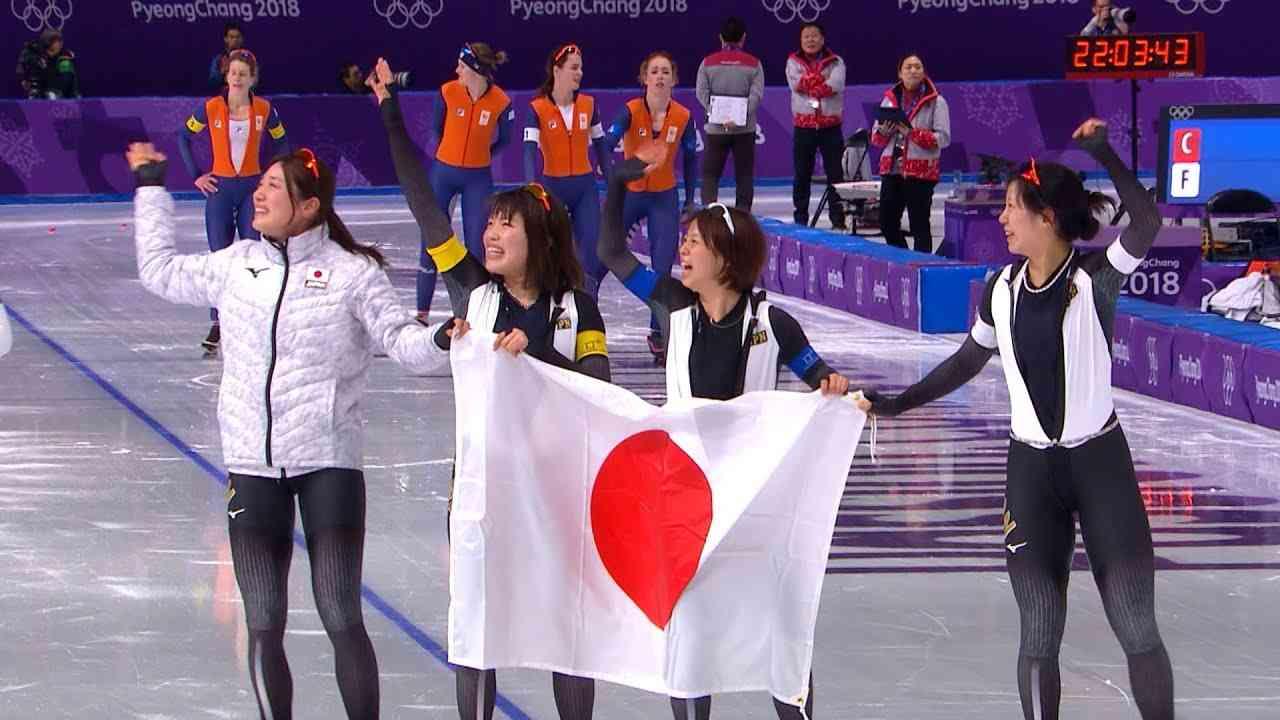 【NHK】日本、金メダル! スピードスケート女子団体パシュート<ピョンチャン> - YouTube