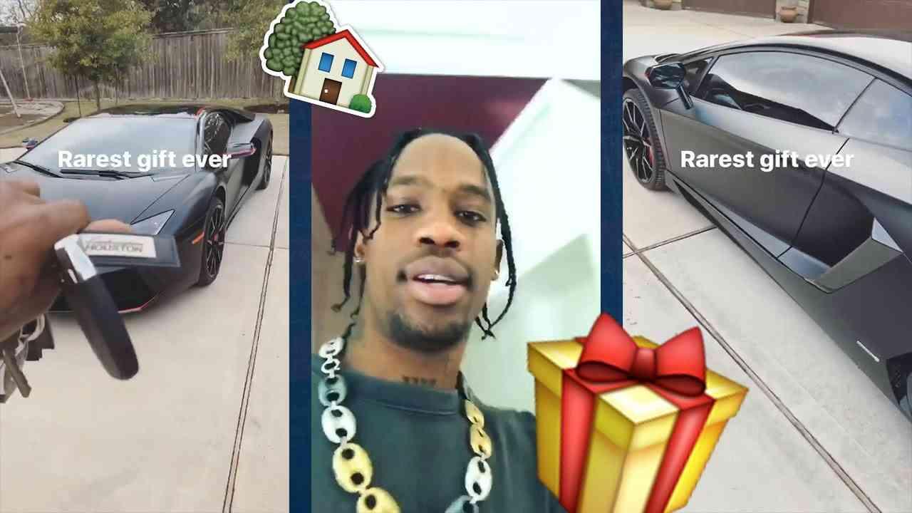 Travis Scott Buys His Family a 10 MILLION DOLLAR House! All Black LAMBORGHINI! - YouTube