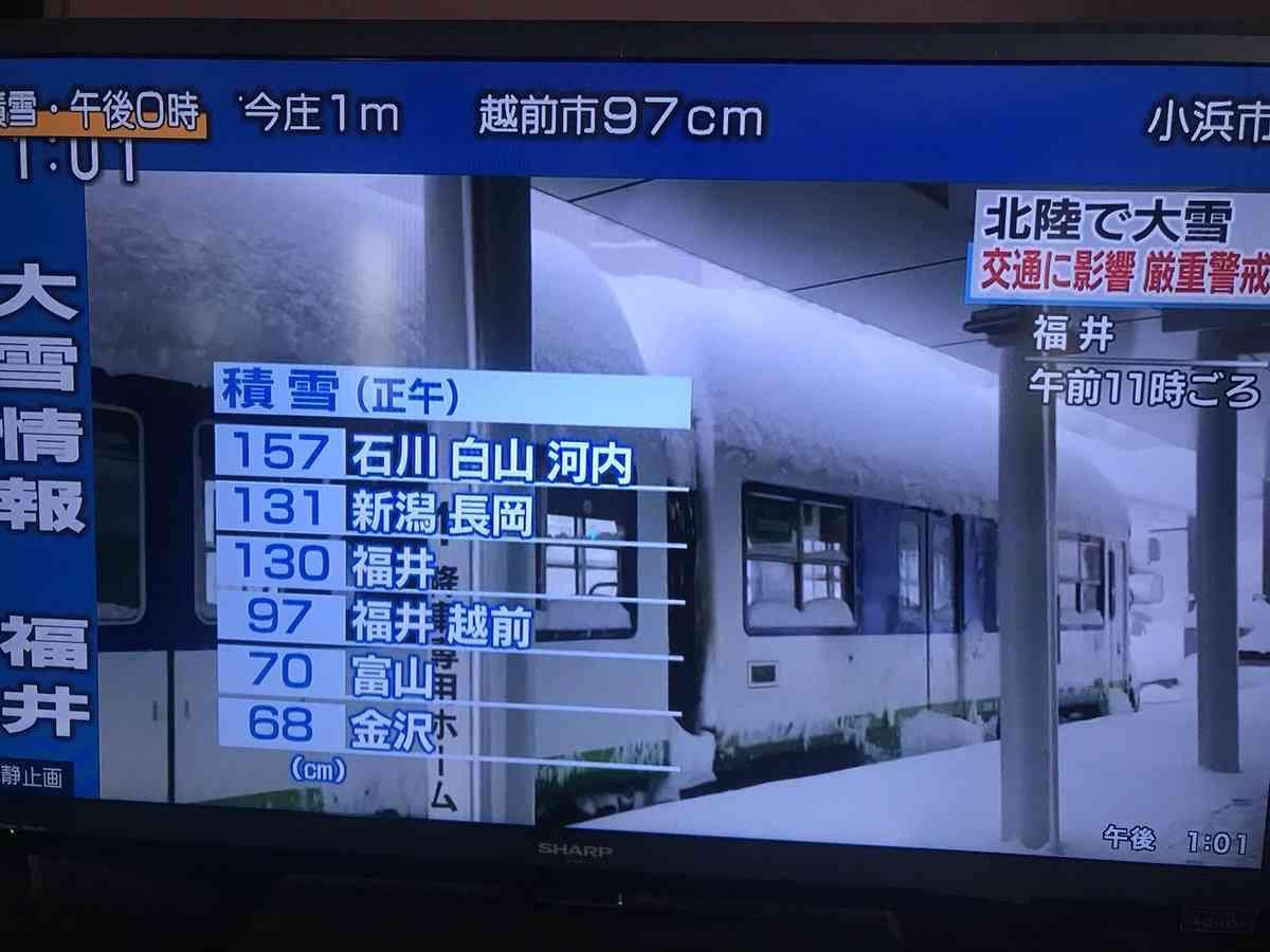 大雪の福井県が災害派遣要請 車1000台立ち往生