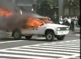 【悲報】 朝鮮総連に拳銃を撃ち込んだ自称右翼活動家の桂田智司容疑者 1992年に炎上トラックで首相官邸に突撃敢行していたwwwwwwwww | 保守速報