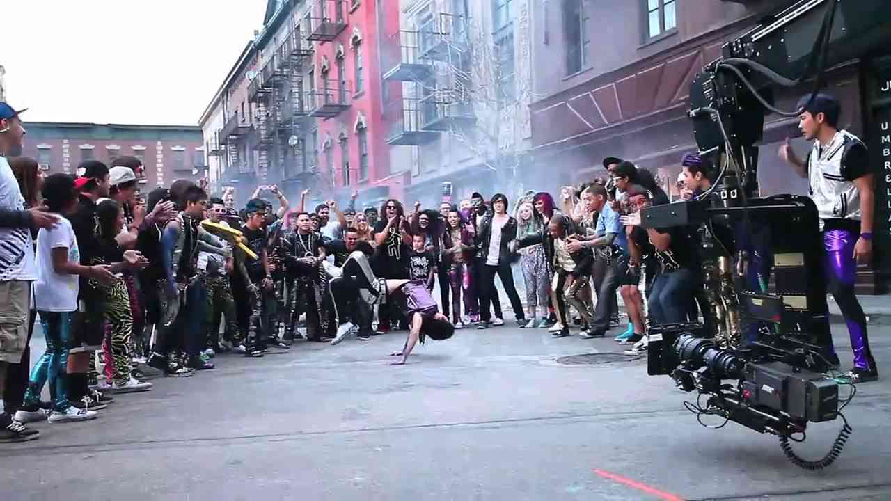 ON SET of Party Rock Anthem with QUEST CREW - YouTube