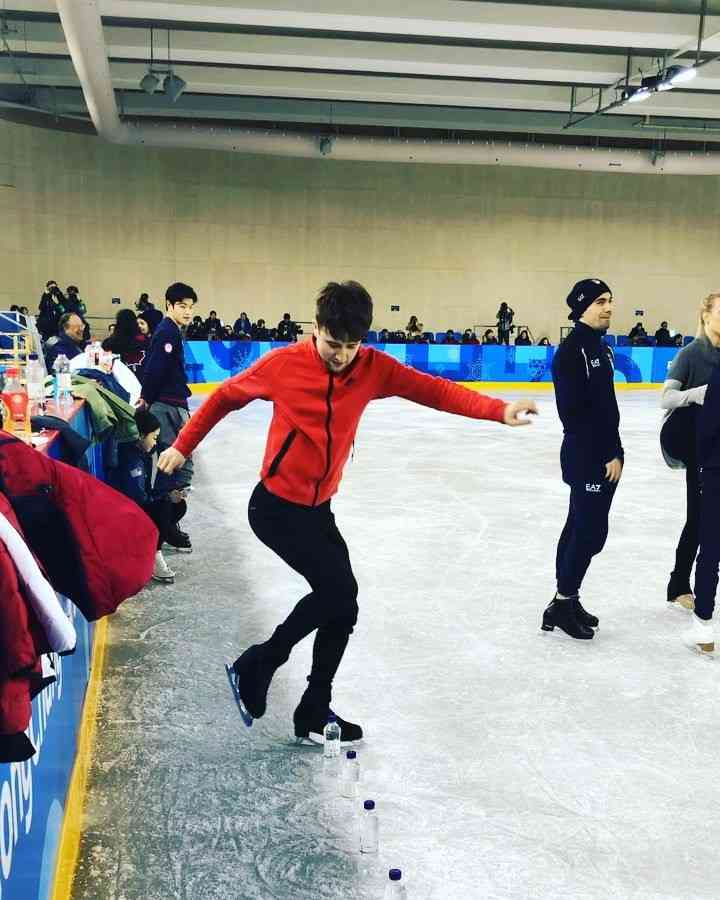 "Misha Ge on Instagram: ""#IceBottleChallenge ?( P.S. FootWork Skills Required )#PyongchangOlympics2018"""