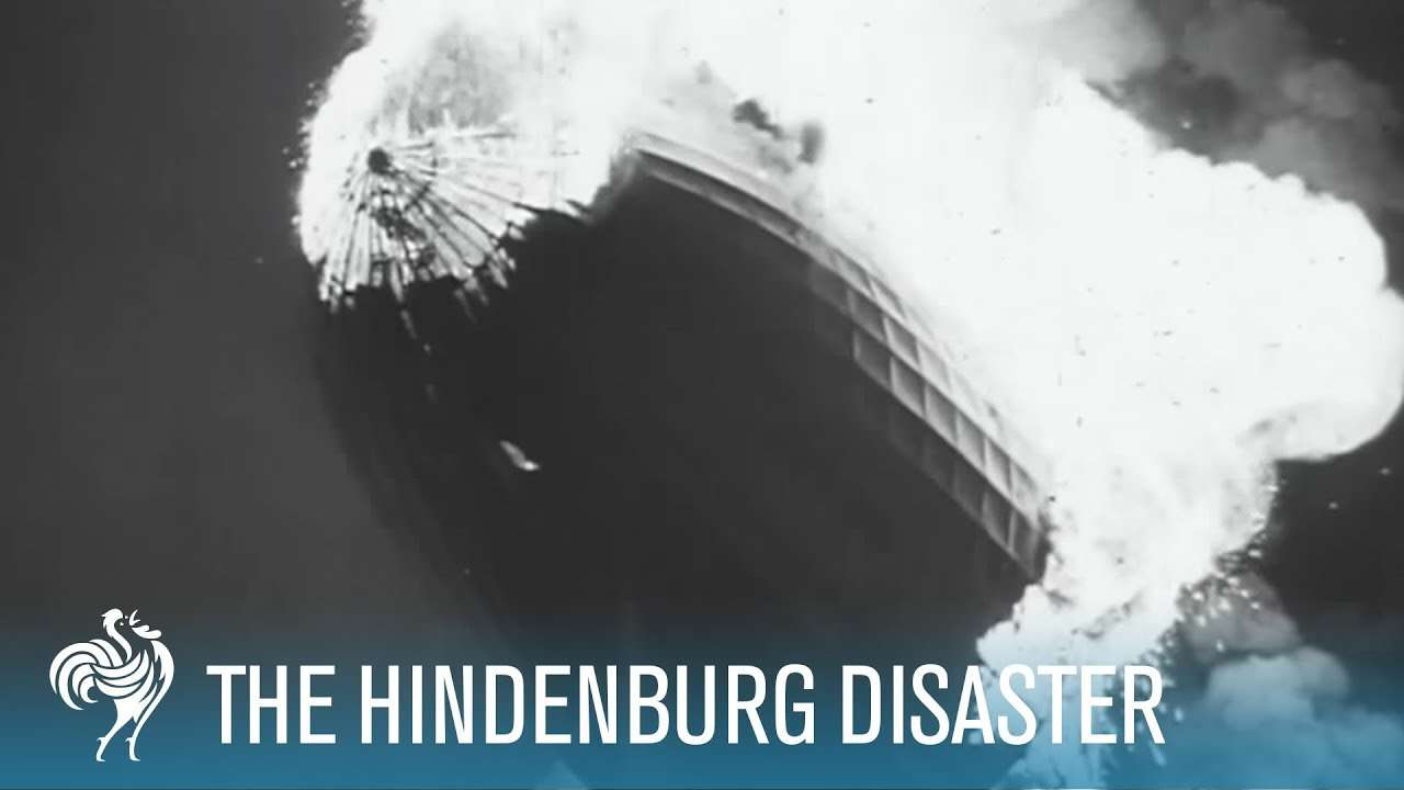 Hindenburg Disaster: Real Zeppelin Explosion Footage (1937) | British Pathé - YouTube