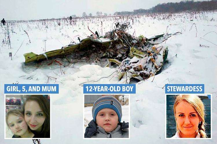 Russian plane crash – Dramatic CCTV of 'moment' jet crashes killing all 71 on board including girl, 5