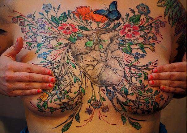 乳がんの手術跡にアートなタトゥー、入浴着で温泉に…傷跡ケアの広がり