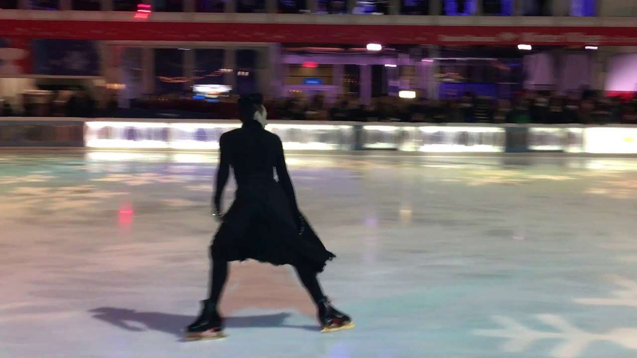 "Johnny Weir performing ""Creep"" at Glitter, Glam and Gold Skate Night at Bryant Park 1/11/2018 - YouTube"