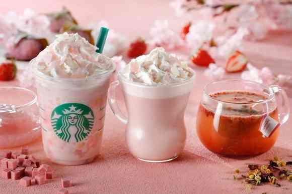 もちもち食感の桜満開 スタバから「さくら ストロベリー ピンク もち フラペチーノ」が新登場|BIGLOBEニュース