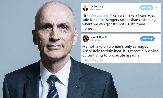 Corbyn slaps down close ally over women-only trains | Daily Mail Online