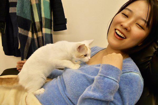 猫が添い寝してくれるリラクゼーションサロン 猫の接客に骨抜きに