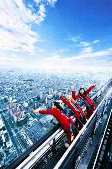 ビル最頂部から真下をのぞける新アトラクションが日本一高いビル「あべのハルカス」に登場