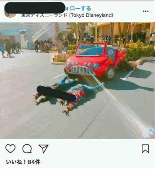 ディズニーでマナー違反のJK急増。インスタ映え写真に批判の声