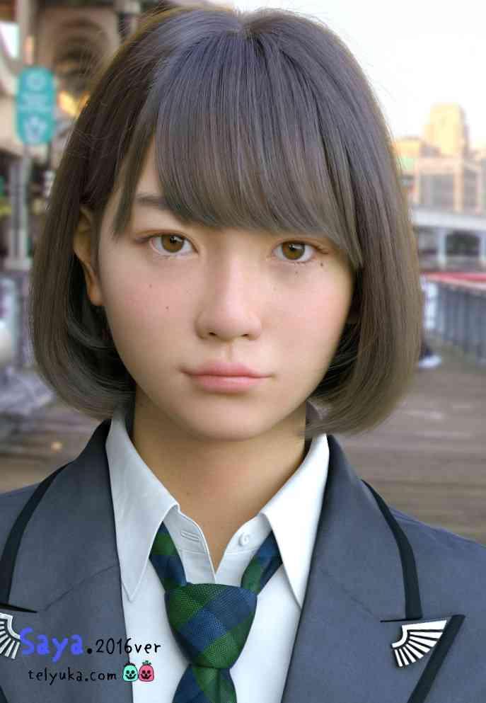 実写にしか見えない3DCG美少女「Saya」が進化 「不気味の谷」を完全に打ち破る