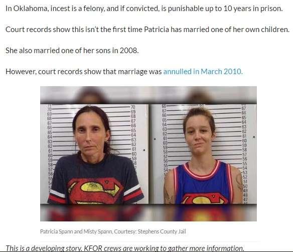 【海外発!Breaking News】実の母娘が夫婦に 近親婚容疑で逮捕される(米)    Techinsight(テックインサイト) 海外セレブ、国内エンタメのオンリーワンをお届けするニュースサイト