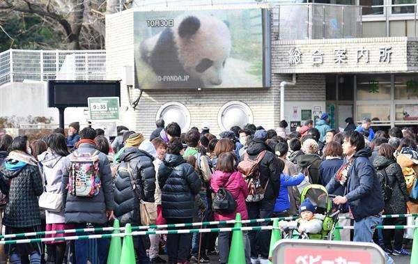 パンダのシャンシャン先着順公開、初日は6000人 整理券余る 上野動物園 - 産経ニュース