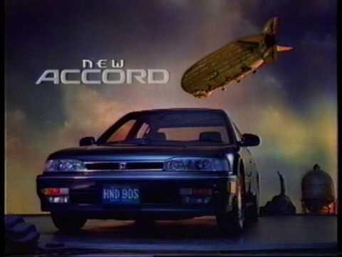 HONDA 90th new ACCORD ① 飛行船 1989-90 - YouTube