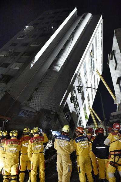 台湾地震、捜索難航 救助者増えず - 産経ニュース