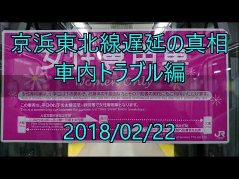 京浜東北線遅延の真相 車内トラブル編<任意確認乗車> - YouTube
