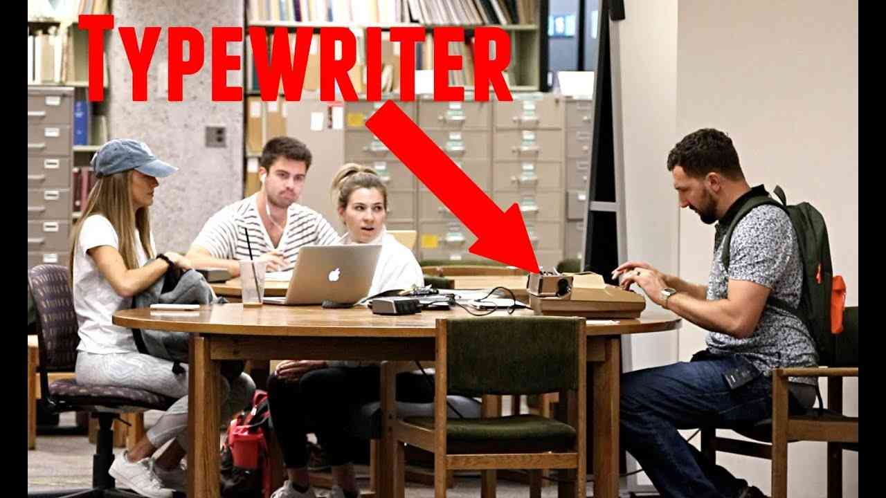 Typewriter in the Library Prank! - YouTube