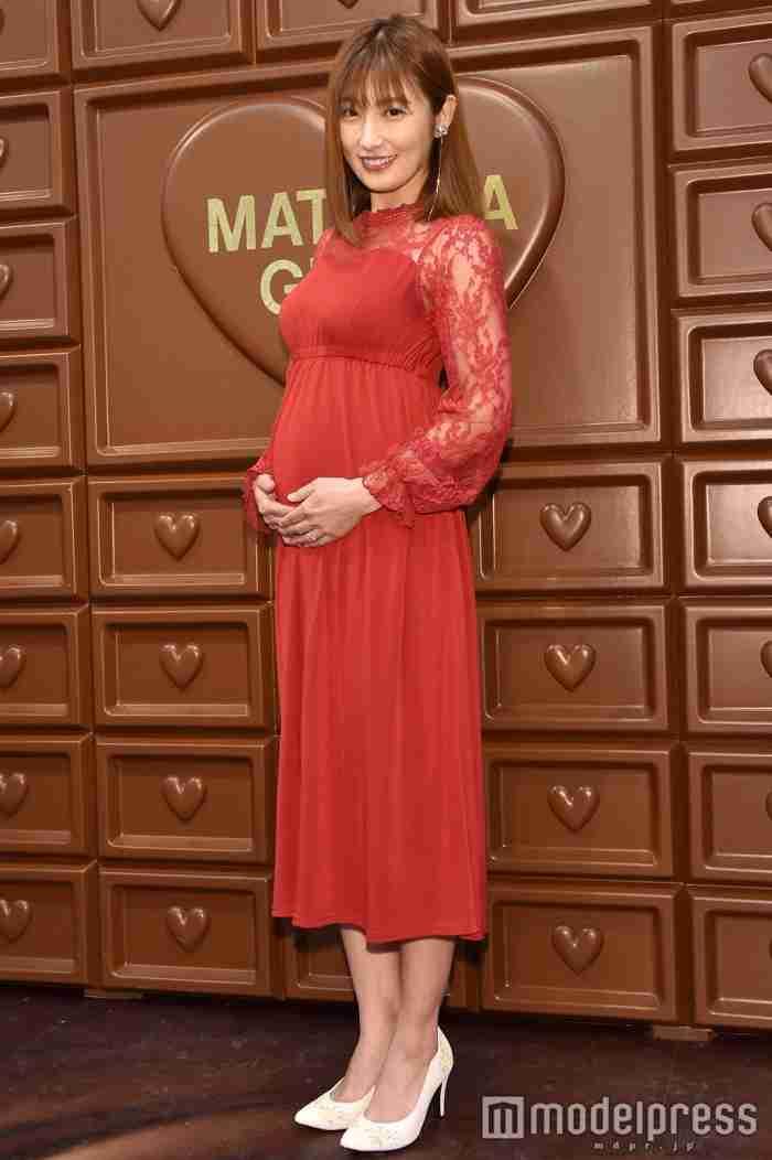 妊娠中の熊田曜子、ふっくらお腹で登場 第3子の性別は?