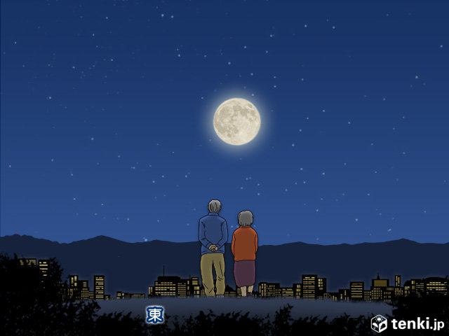 今夜はブルームーン 満月と夜桜の饗宴(日直予報士 2018年03月31日) - 日本気象協会 tenki.jp