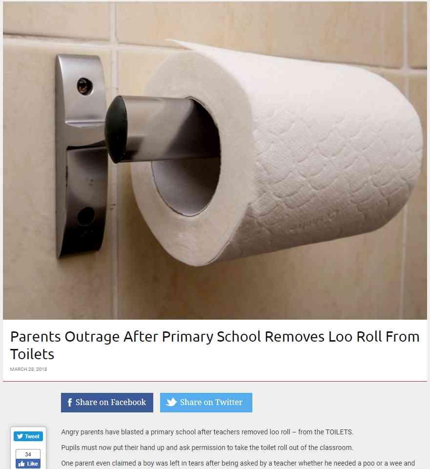 【海外発!Breaking News】トイレからトイレットペーパーを撤去した小学校に保護者ら激怒(英) | Techinsight(テックインサイト)|海外セレブ、国内エンタメのオンリーワンをお届けするニュースサイト