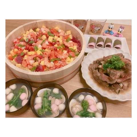 辻希美 ひな祭りにご飯作り過ぎも子供達が食べて「嬉しかったぁ」寿司、スペアリブ