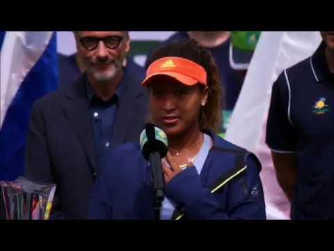 Naomi Osaka the champion of BNP Paribas Open 2018 after win against Daria Kasatkina. - YouTube