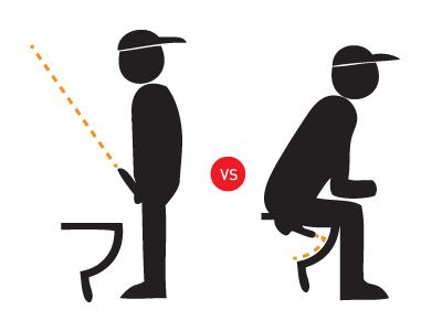 家族の男性のトイレは立ってor座ってしますか?