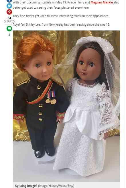 【海外発!Breaking News】英王室ファンが制作した「ヘンリー王子&メーガンさん人形」 肌の色で物議 | Techinsight(テックインサイト)|海外セレブ、国内エンタメのオンリーワンをお届けするニュースサイト