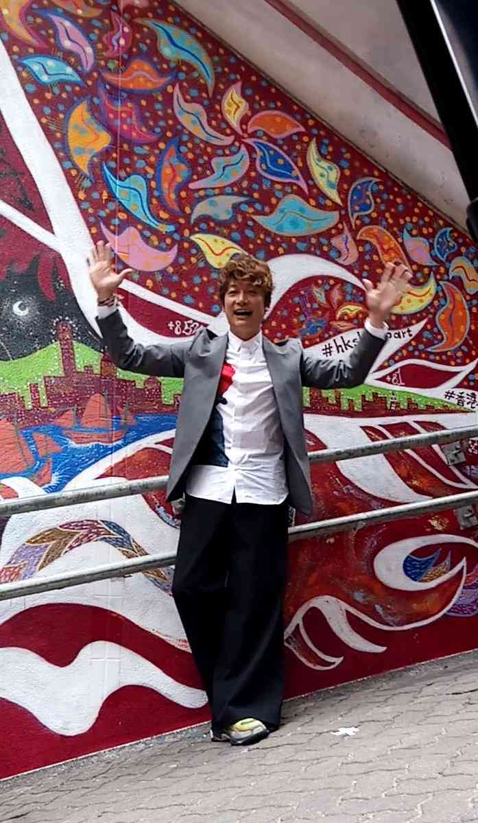 香取慎吾、香港で国外初「ストリート・アート」作品お披露目