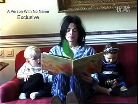 Michael Jackson reading a book to his children (Prince and Paris) - YouTube