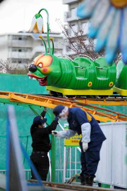 日本一遅いコースター停止、利用客から110番 乗客救助「遅くて気づかず」