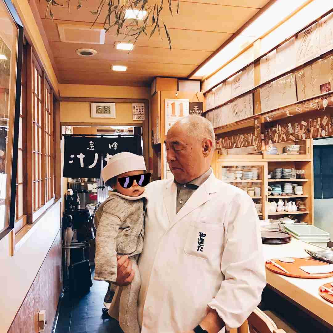"""安田美沙子 on Instagram: """"#instagood #japan #japanese #kyoto #thanks #おやっさん  #大好きな場所 @やました 息子くん、弟子入り"""