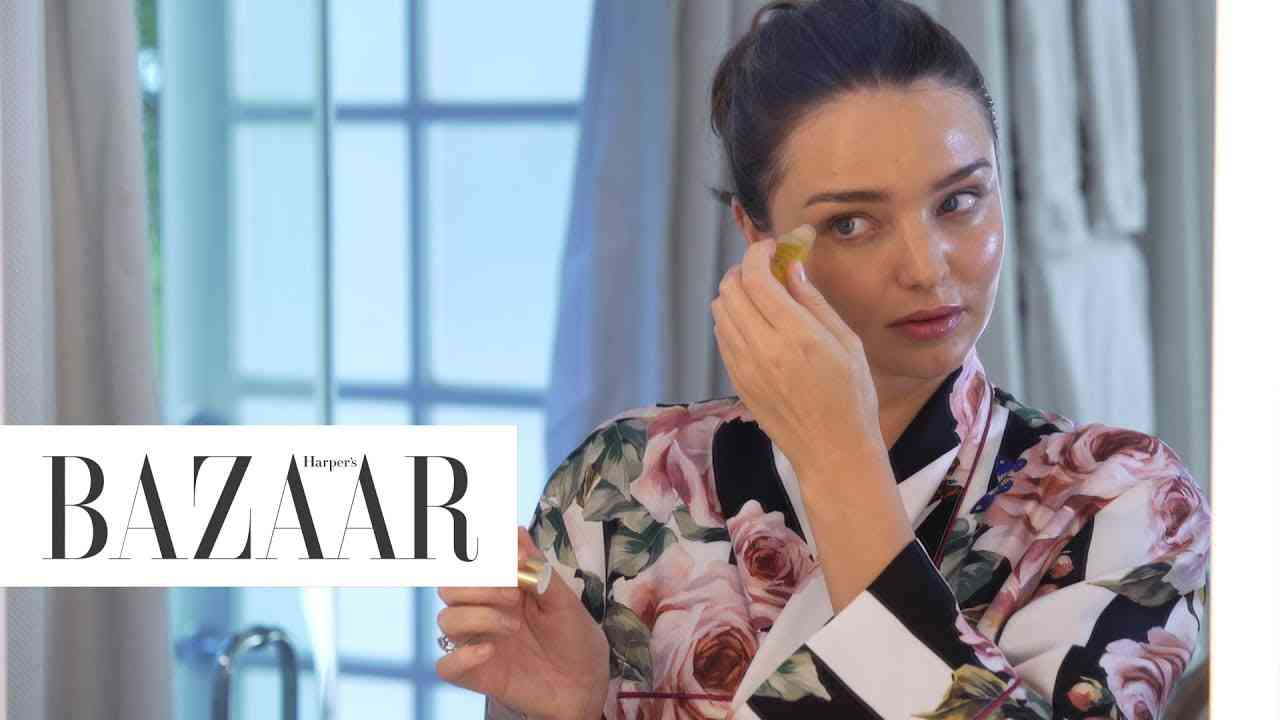 Miranda Kerr's Supermodel Skincare Secrets | Little Black Book of Wellness | Harper's BAZAAR - YouTube