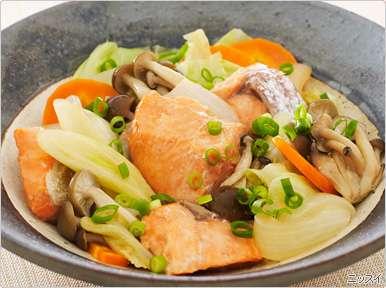 鮭と野菜のさっぱり蒸し|レシピ|ニッスイ