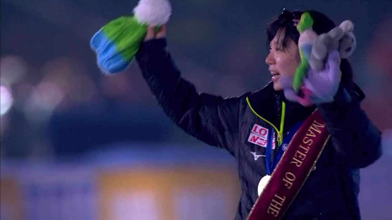 高木美帆選手『スピードスケート世界選手権 』総合優勝 おめでとう!! - YouTube