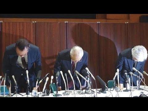 決裁文書改竄した朝日新聞の幹部が緊急謝罪会見!もはや言い逃れはできないと察する - YouTube