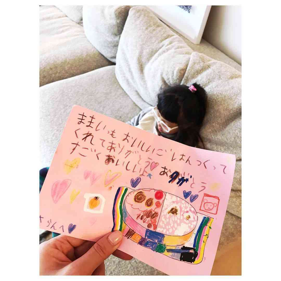 SHIHO、卒園する娘からの手紙に感動「3年間の成長がぎっしり」