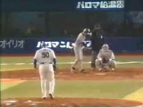 室伏広治、ありえない投げ方で131km h プロ野球始球式 - YouTube