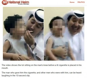 3歳男児の口にタバコをくわえさせて爆笑 親戚の20代男が逮捕(サウジアラビア)