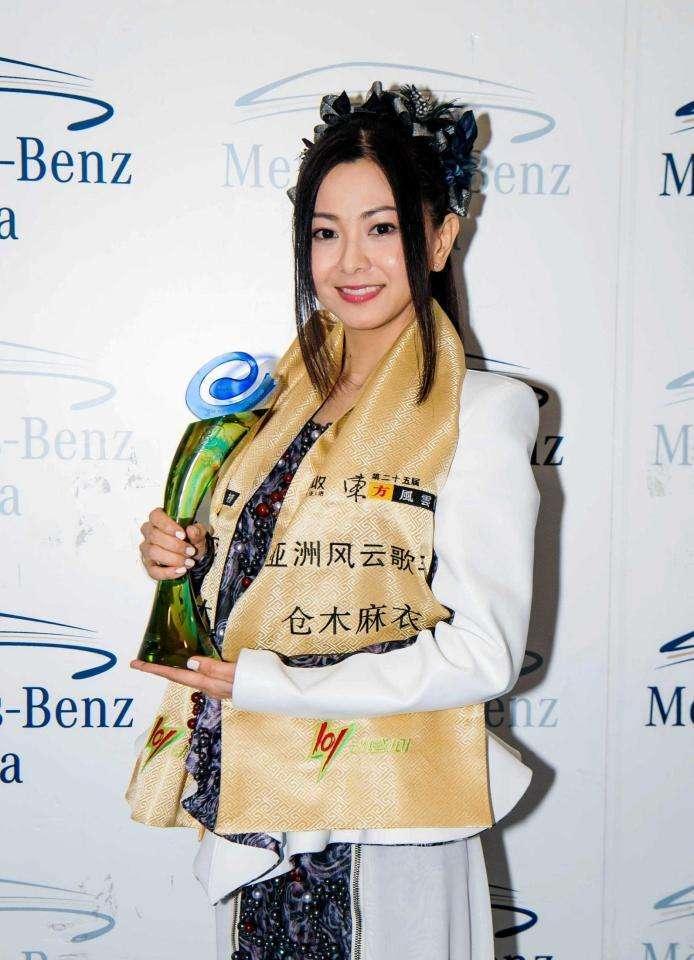 倉木麻衣、日本人初の快挙 中国・上海で最高賞「アジア風雲歌手」を受賞