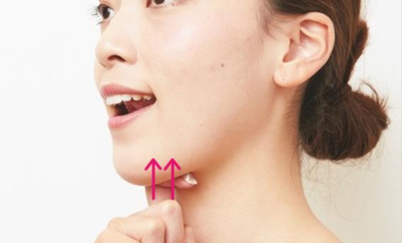二重あご解消のマッサージはこうやるのが効果的!たるみを改善する詳しい方法!! | 100テク