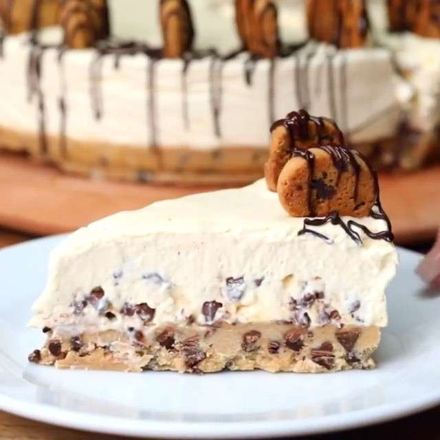 "Twisted on Instagram: ""Cookie Dough Cheesecake"