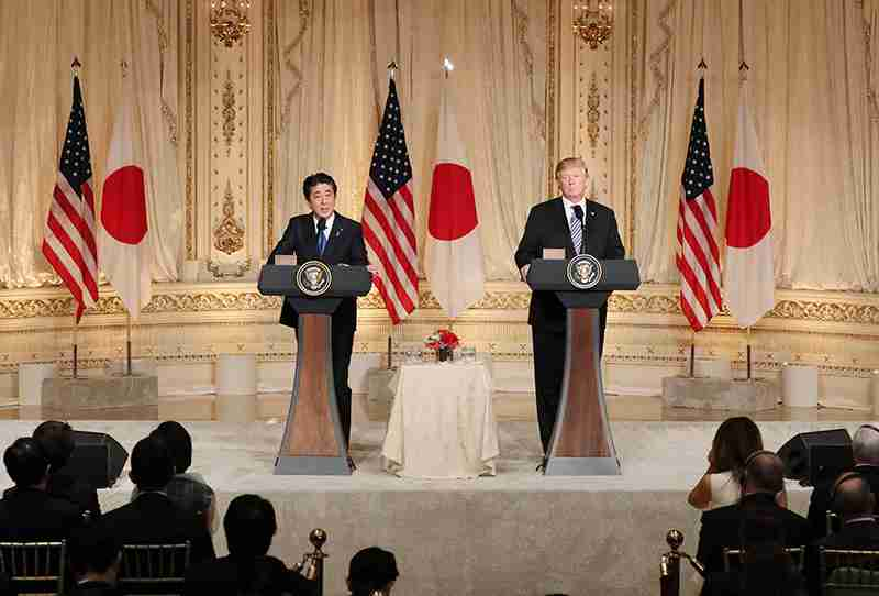 平成30年4月18日 日米共同記者会見   首相官邸ホームページ