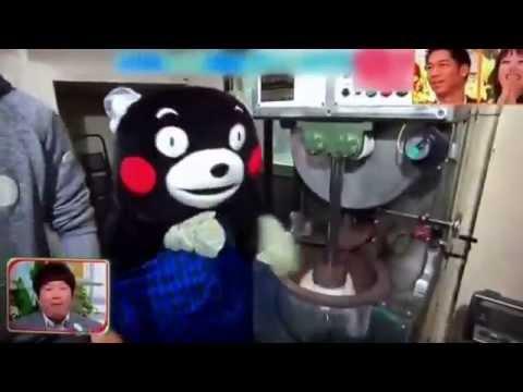 NG集 くまもんの手がお餅の中に…何度見ても大笑い - YouTube
