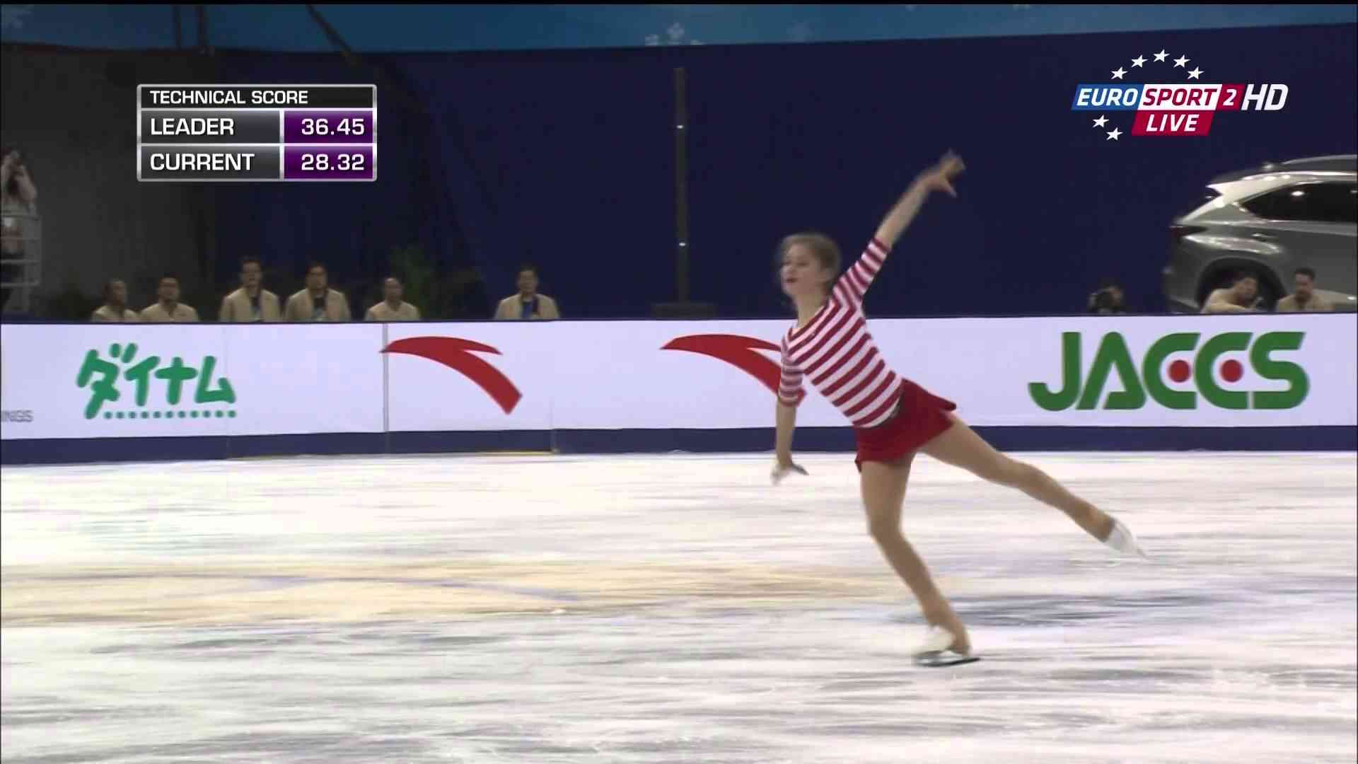 Julia Lipnitskaia 2014 Cup of China SP (Real FHD VIDEO) - YouTube